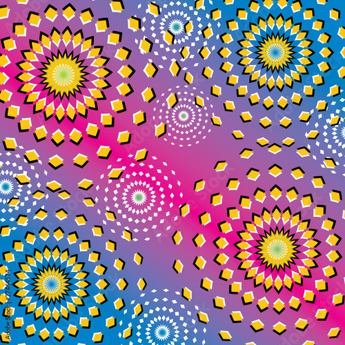 Spoed Foto op Canvas Psychedelic Riotous Ripples (motion illusion)