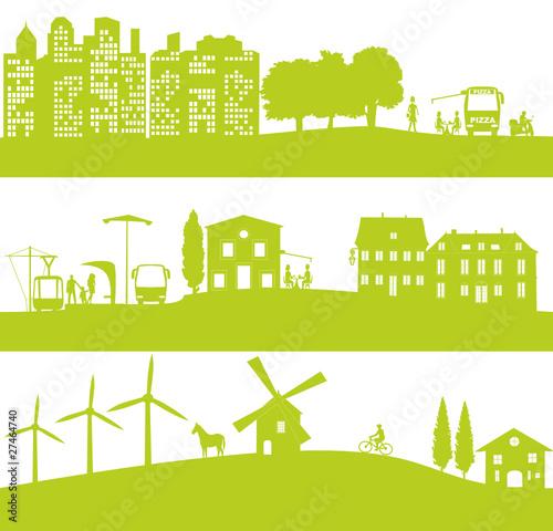 vie urbaine et écologique Fototapeta