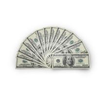 Money On White Isolated. 3d Render