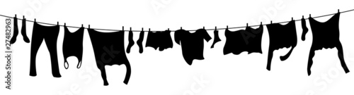 Fotografia, Obraz  washing line