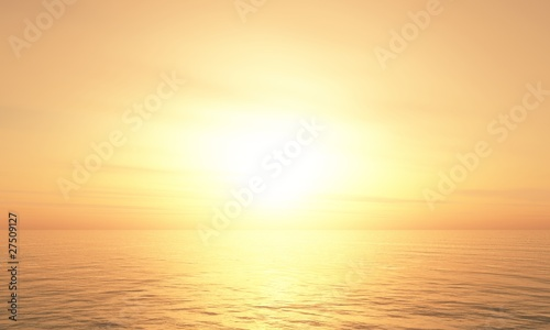 Foto-Schiebegardine Komplettsystem - Hot Sunset background 08