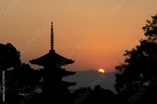 Papiers peints Kyoto beautiful sunset in Kyoto, japan