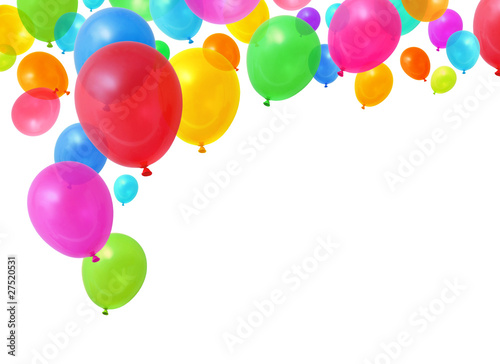 Deurstickers Carnaval Colorful balloons
