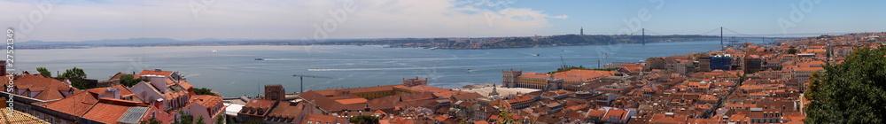 Fototapety, obrazy: Panorama Lisbony