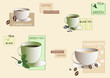 Tea and coffee background (vector)