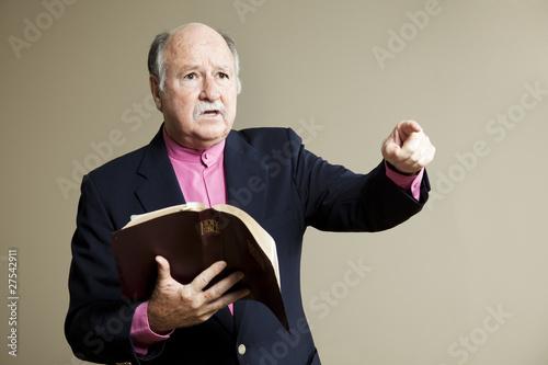 Fotografie, Obraz  Serious Sermon