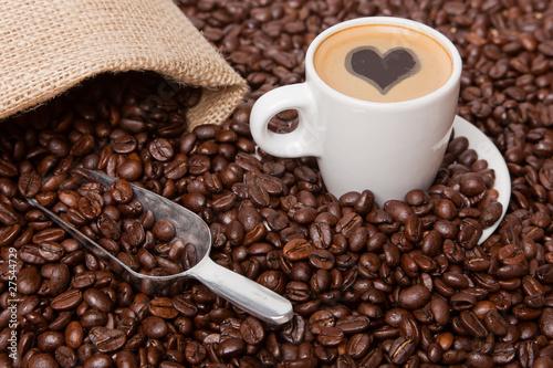 Deurstickers koffiebar Coffee Love