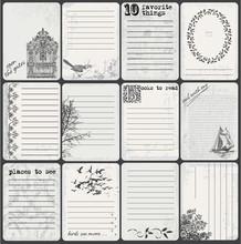 Journaling/Scrapbooking Cards, Black And White Grunge