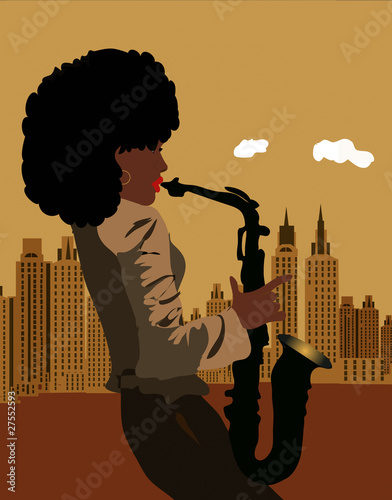 Photo sax in the city