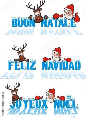 Christmas Wishes In Spanish.Christmas Wishes Italian Spanish French Language Buy