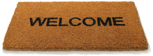 Welcome Front Door Mat On A White Background