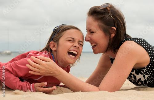 fou rire en famille Fototapet