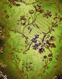 Green decorative floral background