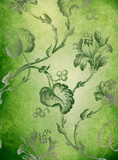 Green decorative floral background