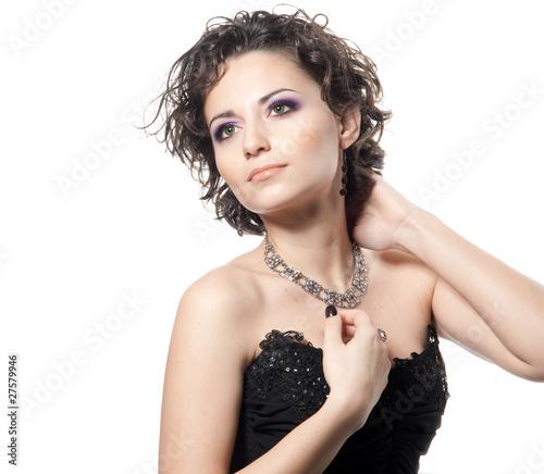 Valokuvatapetti Beautiful brunette woman