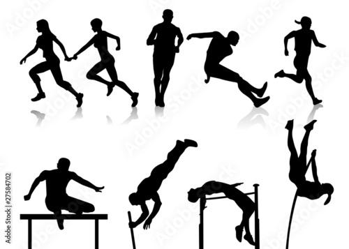 athlétisme Canvas Print