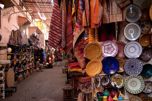 Photo Stands Morocco Souk di Marrakech