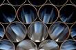 canvas print picture - Stahlrohre für eine Pipeline