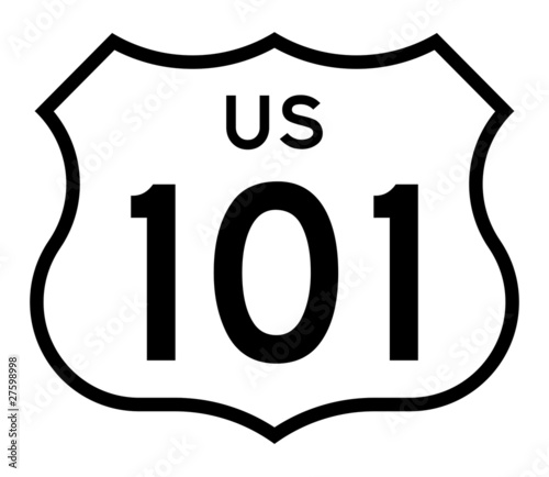 Photo  US route 101 highway sign