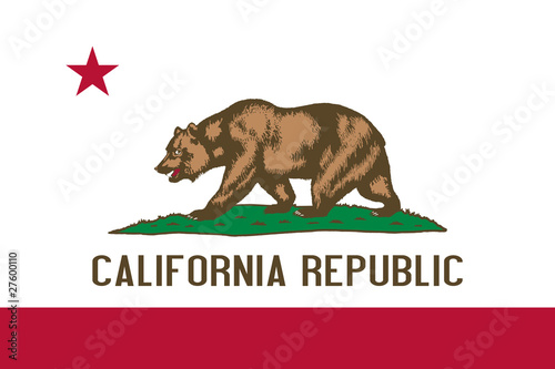 Fototapeta California State flag