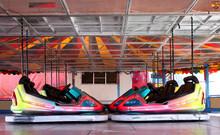 The Dodgem Cars On A Fun Fair Amusement Ride.