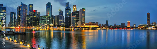 Spoed Foto op Canvas Singapore Singapore Skyline at night
