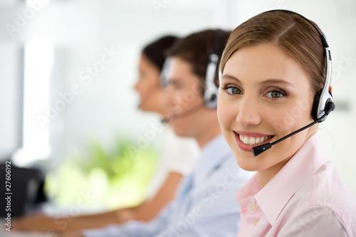 At a call center