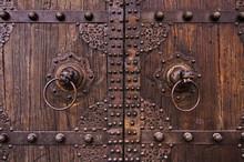 Porte Traditionnelle Chinoise En Bois