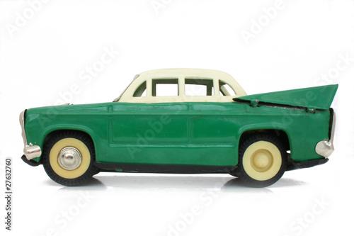 Foto op Aluminium Vintage cars Voiture miniature en fer blanc