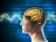 Leinwanddruck Bild - Brain waves