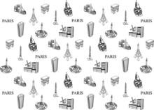 PARIS TOURISTIQUE - Motif Papier Peint