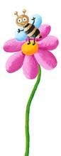 Cute Bee In The Flower