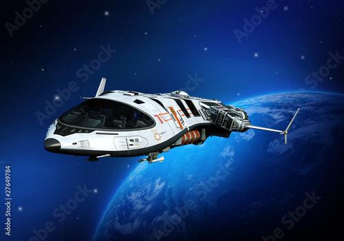 Plakaty samoloty   odlatujacy-statek-kosmiczny
