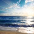 Beautiful sunrise seascape