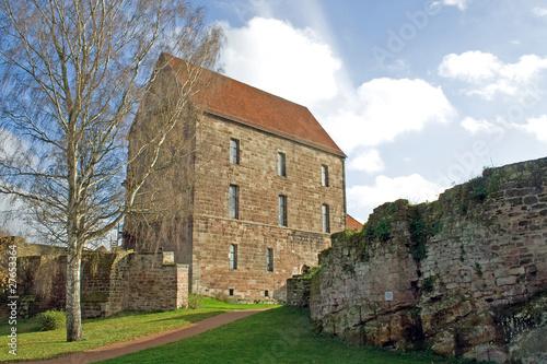 Burg Hardegsen: Muthaus mit Burgmauer (Niedersachsen