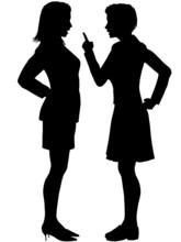 Women Disagree Yell Fight Argu...