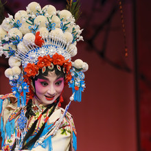 An Attractive Pretty Chinese Opera Actress