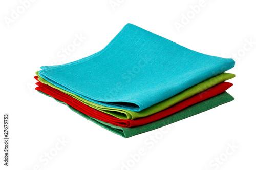 Fotografie, Obraz  Flax table napkins on white background isolated