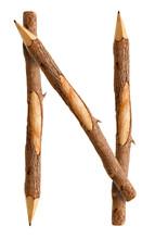 Pencil Wood, Letter N