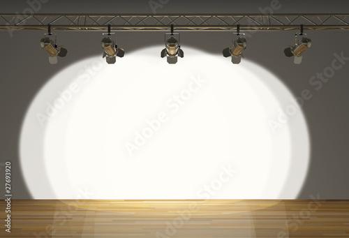 Foto op Canvas Licht, schaduw stage with spot lights