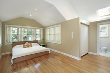 Master Bedroom With Skylight