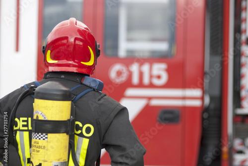 Fotografia  vigile del fuoco