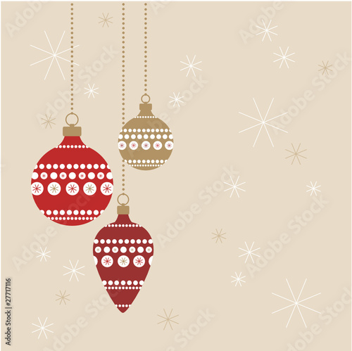 Weihnachtskugeln Rot Gold.Weihnachtskugeln Rot Gold Auf Fond Buy This Stock Vector And