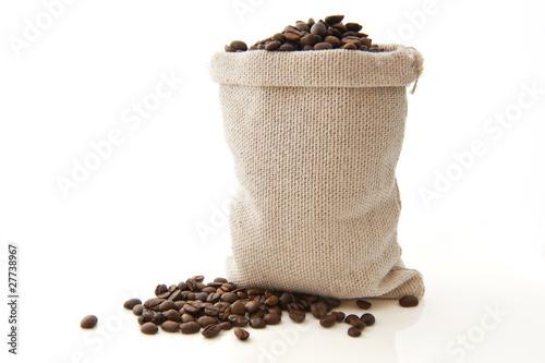 Aluminium Prints Coffee beans Paquet de café