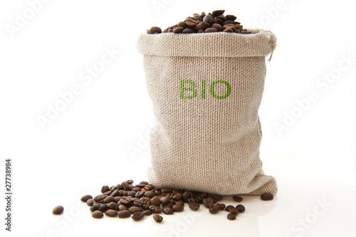 Aluminium Prints Coffee beans café bio