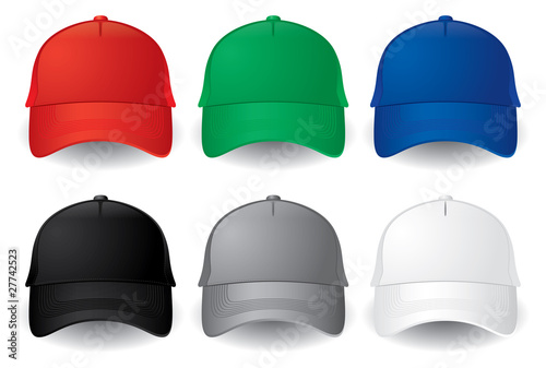 Stampa su Tela  Vector baseball caps