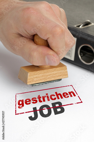 Fototapety, obrazy: Job gestrichen