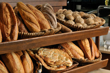 Assortment Of Baked Bread On S...