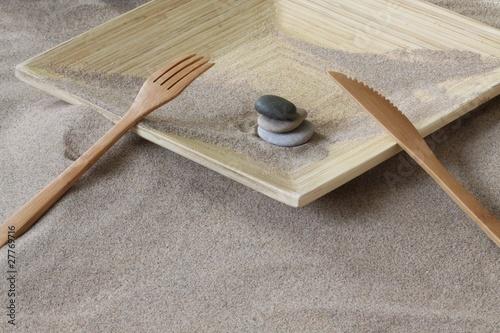 Photo sur Plexiglas Zen pierres a sable bouffer du zen