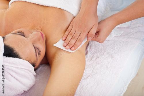 Photo Waxing armpit